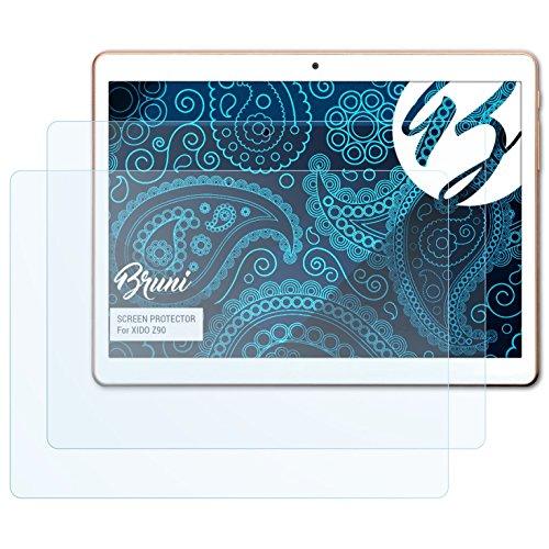 Bruni Schutzfolie kompatibel mit XIDO Z90 Folie, glasklare Displayschutzfolie (2X)