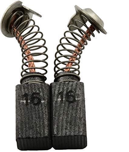 Escobillas de carbón Buildalot Specialty ca-17-51724 para Hitachi Martillo DH 22V - 6,5x7,5x13 mm - Con Dispositivo de desconexión, resorte, cable y conector - Reemplaza partes 999021, 999070 & 999084