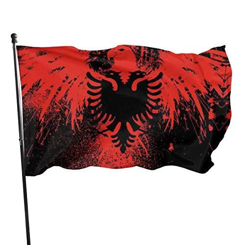 Albanese vlag (Union Jack) 3 X 5 Ft (150x240cm) Polyester -Levendige kleur en dubbele gestikte nationale vlaggen 100% polyester Banner voor buiten