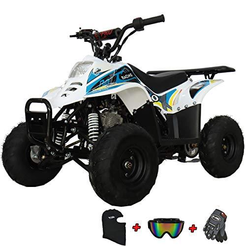 X-PRO Bolt 110 110cc ATV Quad Youth ATVs Quads 110cc 4 Wheeler ATVs Kid Size ATV 4 Wheelers (Blue)
