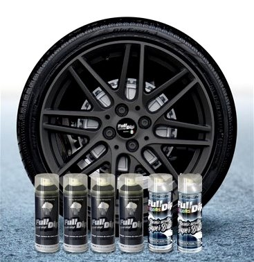 Sophisticauto Full Dip Packs Ahorro Llantas 6 Sprays Gun Metal Gris Brillo