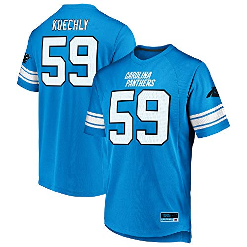Majestic Luke Kuechly Carolina Panthers Blue Big & Tall Hashmark Jersey T-Shirt 4XL