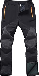 Gash Hao Mens Snow Ski Waterproof Softshell Snowboard Pants Outdoor Hiking Fleece Lined..
