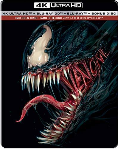 Venom (Steelbook) (4K UHD + Blu-ray 3D + Blu-ray + Bonus Disc) (4-Disc) ASIAN IMPORT