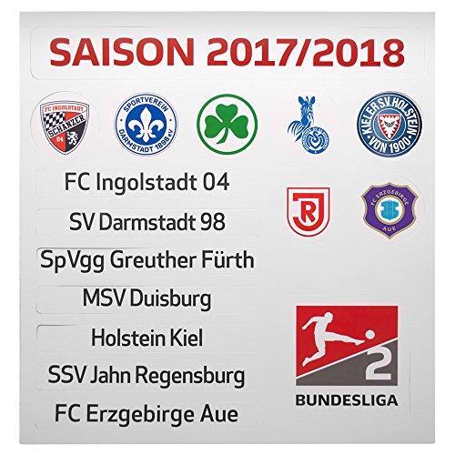 Am Ball Com GmbH 2. Bundesliga - Update-Set für die Magnettabelle (Saison 2017/18)