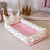 Babynest Tragbare Babybett for Neugeborene Cartoon-Druck abnehmbar und waschbar Crown Baby Nest Folding Kinderbett 0-18M Bionic Cot (Color : G)