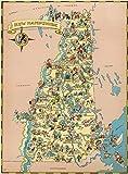 LTpintu Enfants Puzzle 500 Pieces Carte de dessinée New Hampshire Adultes Classique Jigsaw Puzzles Créatif en Bois Jouet Jeu Cadeau