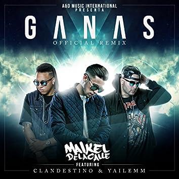 Ganas (Remix) [feat. Clandestino & Yailemm]