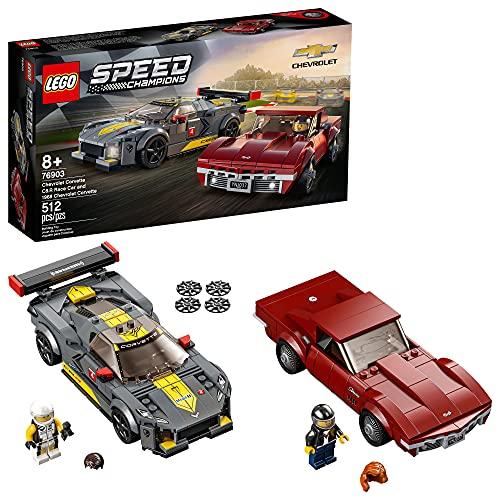 LEGO Auto Deportivo Chevrolet Corvette C8.R y Chevrolet Corvette de 1968