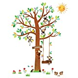 Decowall DM-1401 Monkeys Tree Wall Sticker