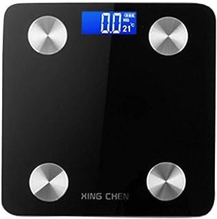 ShiSyan Balanza Bluetooth Escala de Grasa Corporal, índice de Masa Corporal Inteligente Escala de baño Digital Báscula, mediciones de Alta precisión, 180Kg, Negro Básculas Digitales
