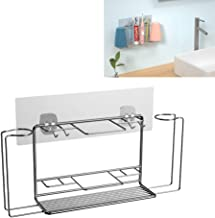 Buwico Stainless Steel Eletric Toothbrush Wall Mount Holder Toothbrush Rack Bathroom Storage Organizer for Toothpaste, Raz...