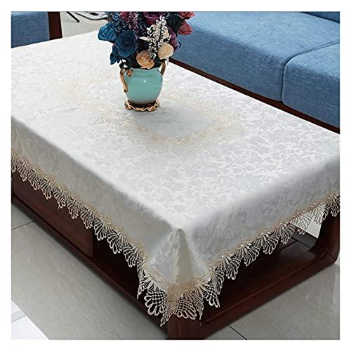 Mesa de centro de estilo europeo Mantel de café Mesa de café Mesa de café Moderna Minimalista Mesa rectangular para el hogar Sala de estar (Color: 2, Tamaño: 120 * 180cm / 47.24 * 70.86in) DAKSL