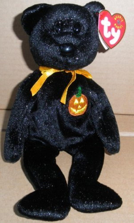 TY Beanie Babies Haunt Halloween Bear Stuffed Animal Plush Toy - 8 1 2 inches tall - schwarz with Gold Glitter by Smartbuy