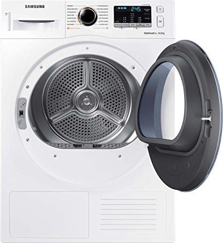 Samsung DV5000 DV81M50103W/EG Wärmepumpentrockner/A++/OptimalDry - Sensorgesteuertes Trocknen/Kondenswasserstandsanzeige - SchnellCheck/Komfort 2-in-1-Filter - 3