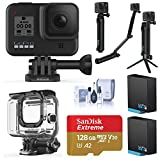 GoPro HERO8 Black, Waterproof Action Camera, Pro Explorer Bundle with Dive/Protective Case, 3-Way Mount, 2 Batteries, 128B microSD Card, Cleaning Kit