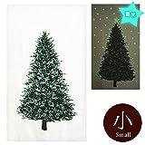 クリスマスツリー タペストリー蓄光ミニサイズ ウッド柄パネル オックス カットクロス