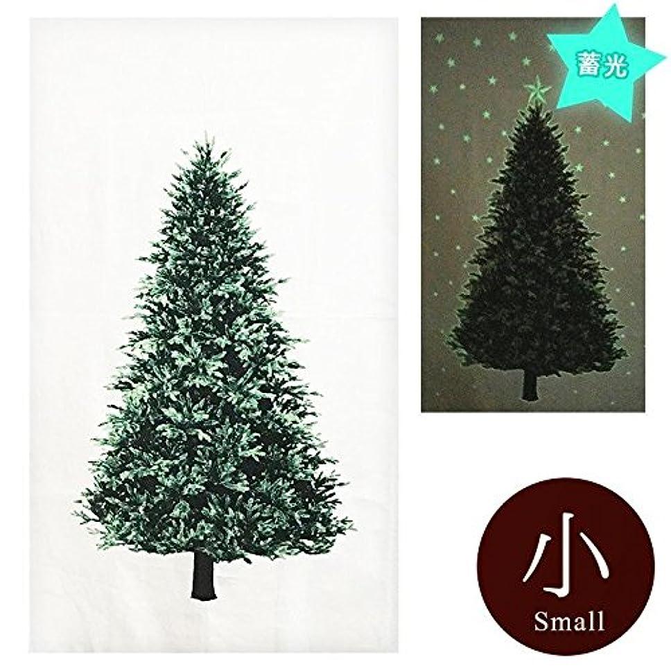 ワゴン専ら適応クリスマスツリー タペストリー蓄光ミニサイズ ウッド柄パネル オックス カットクロス