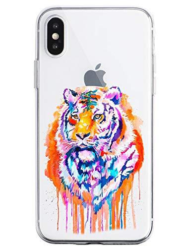 Oihxse Cristal Clear Coque pour iPhone 11 Silicone TPU Souple Protection Etui [Jolie Aquarelle Animal Design] Anti-Choc Anti-Scratch Bumper Housse Ultra Fin Case (B4)