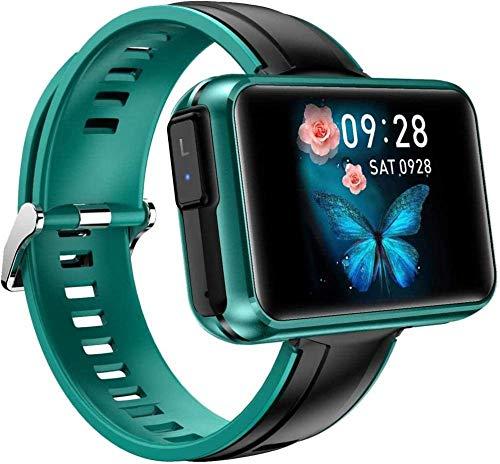 Reloj inteligente 1.4 pulgadas pantalla grande DIY papel pintado Bluetooth música dos en uno TWS Bluetooth auricular inteligente recordatorio para el uso diario-verde