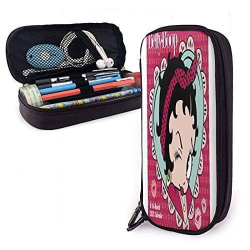 Betty Boop Estuche de lápices de colores, gran capacidad para lápices, organizador con cremallera para lápices de acuarela, bolígrafos de gel y marcadores para artista