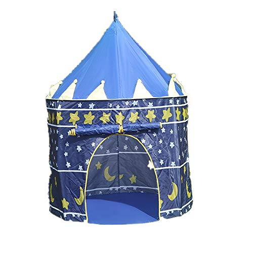 ZLD Outdoor travel portable yurt tent camping supplies indoor children's games foldable tent suitable for children outdoor activities activities camping and other outdoor activities,Blue