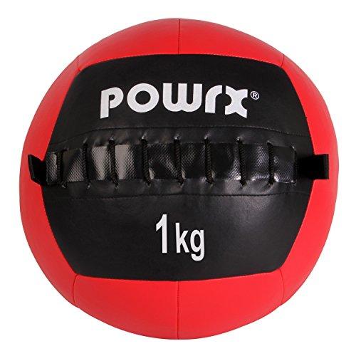 Balón medicinal Wall Ball, 1-10 kg, 1 kg / Rot