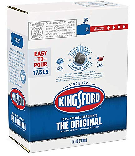 Kingsford Original Charcoal Briquettes, Easy-to-Open, Easy-to-Carry Package, BBQ Charcoal for Grilling – 17.5 Pounds (Easy-to-Carry)