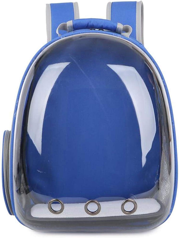 Cat Bag Pet Space Bag Cat Out Bag Portable Backpack Shoulder Dog Dog With Transparent Compartment Breathable Lostgaming (color   bluee)