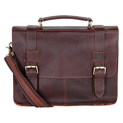 GDC Leather Messenger laptop bag, shoulder bag UNISEX high-quality, medium-sized (34/25 / 10) Buffalo leather Italy
