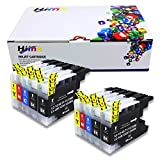 HIINK Comaptible Ink Replacement for Brother LC-71 LC75XL LC75 Ink Cartridges Use in MFC-J280W MFC-J425W MFC-J430W MFC-J435W MFC-J625DW MFC-J5910DW MFC-J6710DW MFC-J6910DW J825DW J835DW(10-Pack)