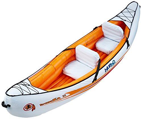 Blueborn Indika 2 Touren-kajak 325x80cm kano nylon hoes voor 2 personen met 165 kg draagkracht oranje