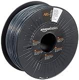 Amazon Basics - Filamento para impresora 3D, plástico ABS, 1,75 mm, cinta de 1 kg, gris oscuro