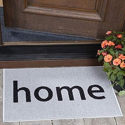 """Ottomanson Doormat Collection Rectangular Home Doormat, 20"""" X 30"""", Grey"""