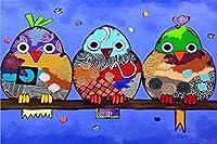 かわいい鳥1000ピース木製パズル、大人と子供たちのレジャーとエンターテイメントの減圧パズルのおもちゃ