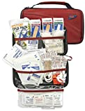 AAA 121 Piece Road Trip First Aid Kit packaged in compact hard shell foam carry case, ideal for emergency use...