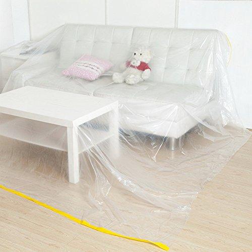 Plastic stofbestendige doeken decoratie, bank, stofdichte afdekking boot plastic stofhoes 27.5x36.5cm(11x14inch) A