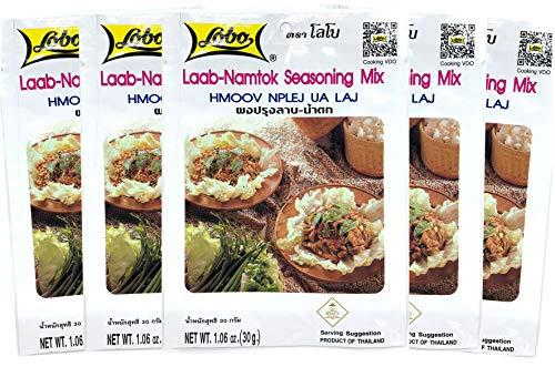 Lobo Thai Laab Namtok Seasoning Mix 106 Ounce Pack of 5