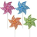 Kofun Wind Spinner, Molino de Viento Rayado Wind Spinner Home Garden Patio Decoración Niños Juguetes para niños