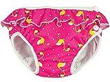 Imsevimse, Schwimmwindel, Badewindel, Aquawindel, Modell Pink Flamingo mit Rüsche (M7-10kg)