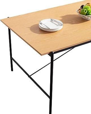 Marque Amazon - Movian Kyyvesi Table de salle à manger, 180x90x75cm, Finition effet chêne