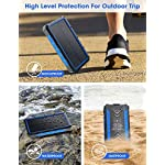 DJROLL 36000mAh Solar Power Bank, Qi Wireless Solar Portable Charger with LED Flashlights, Dual Outputs & Inputs Huge…
