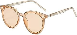 Vintage Retro Polarized Oversized Keyhole Round Mirrored Lens Sunglasses For Women Eyewear LK1801
