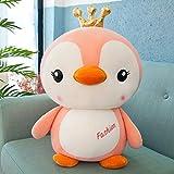 Poupée Pingouin en Peluche poupée créative 70cm Couronne Jaune Rose
