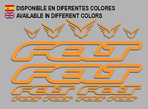 Ecoshirt TJ-0UTC-X8EB Aufkleber Felt F172 Vinyl Adesivi Decal Aufkleber ・ŸŸŸber MTB Stickers Bike, orange