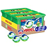 Ariel All-in-1 Pods Washing Liquid Laundry Detergent Tablets/Capsules, 90 Washes (30 x 3) with Active Odour Defence