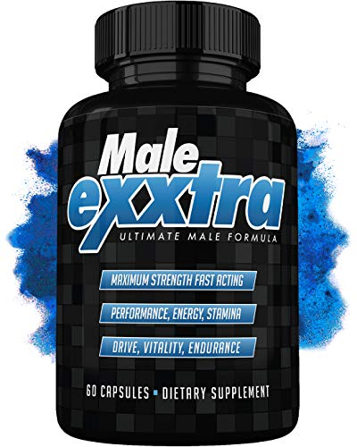 Male Exxtra Ultimate Enhancing Pills - Enlargement Formula Promotes Size, Strength, Energy. All Natural Performance Supplement - 1 Month Supply - Made in USA