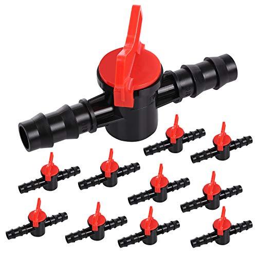 PUMYPOREITY 10 Stück Absperrventil Kunststoff Regelventil Verstellbare Steuerventil gartenschlauch ventil zur Rohrabsperrung einzelner Rohrstränge für 16mm Bewässerungsschläuche