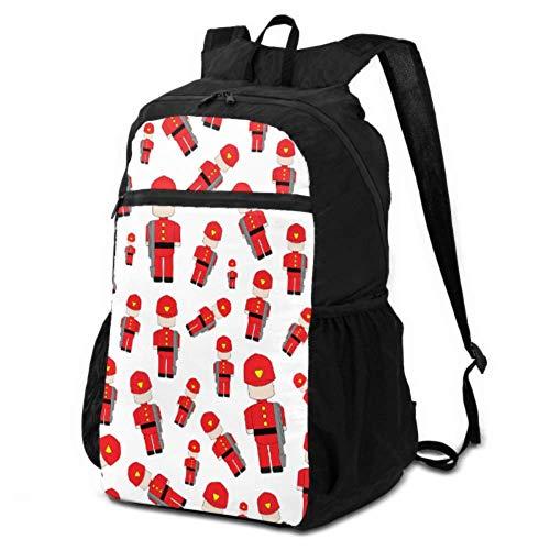 JOCHUAN Foldable Backpacks Cartoon Animation Fireman Hero Warrior Travel Daypack Packable Packable Large Backpack Lightweight Waterproof for Men & Womentravel Camping Outdoor