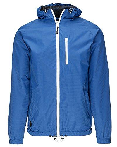 Humör Damon College Jacke Windbreaker Übergangsjacke Blouson Zipper blau (S)